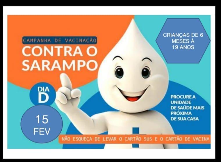 Resultado de imagem para Primeira etapa da Campanha de Vacinação contra o Sarampo 2020